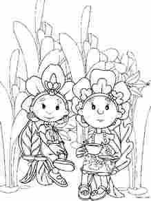 花仙子涂色 简笔画图片 867k儿童资源网 高清图片